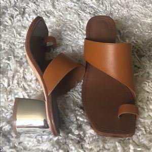 Sigerson Morrison Women Brown Toe Strap Sandal